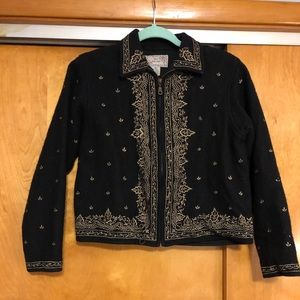 Wool Blend Embroidered Jacket
